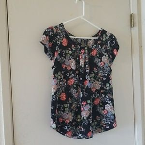 Floral Silk Blouse From Anthropologie